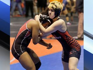 Transgender boy chases girls wrestling title
