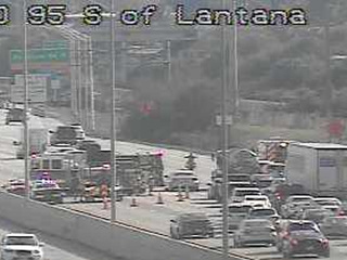 5 people suffer minor injuries in I-95 crash
