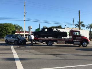 Injury crash causes delays in West Palm Beach