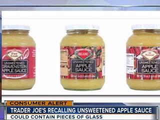 Trader Joe's recalls apple sauce for glass
