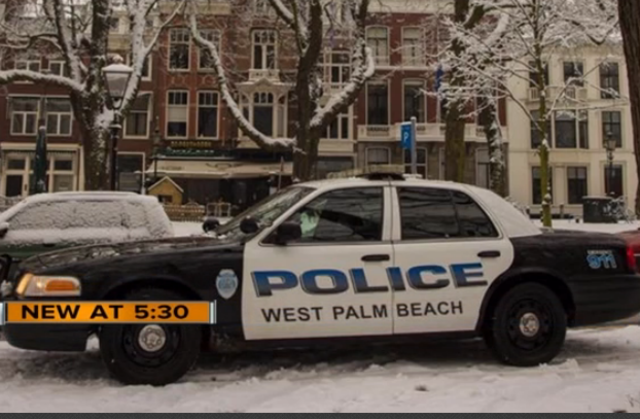 No Its Not Photoshop Explanation Behind Wpb Police Car In Snowy European City