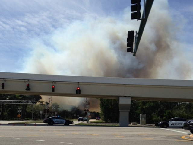 Firefighters keep close eye on hot spots after palm beach - Weather palm beach gardens florida ...
