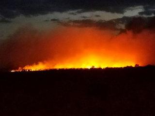 Fire creates stunning images in Okeechobee Co.