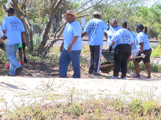 Cemetery cleanup in Hobe Sound
