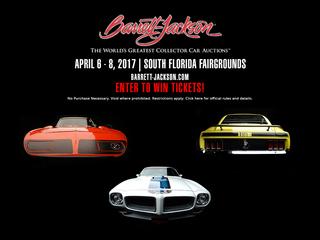 Win Barrett-Jackson Palm Beach Auction tickets