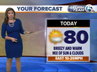 Low rain chances this weekend