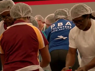 Rotary Club holds annual WPB food packing event