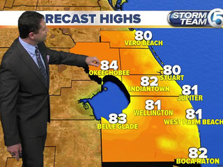 Hot and humid conditions coming