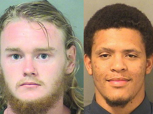 2 arrested after bodies found near brush fire