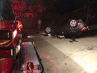 Car lands on roof after West Palm Beach crash