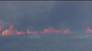 Brush fire threatens So. Fla. fish camp, park