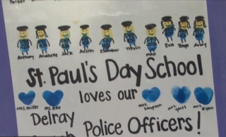 Delray Beach students honor fallen officer