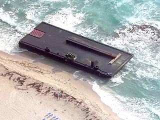 Minor damage found after April barge beaching