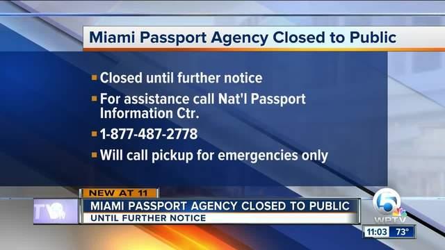 Flooding causes Miami Passport Agency to shut down