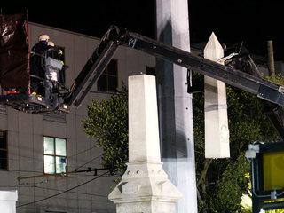 New Orleans removes white supremacist monument