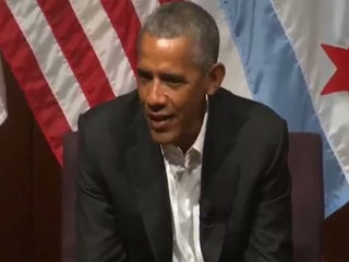 Obama delivers 1st post-presidency speech