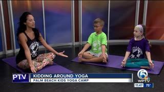 Kidding Around Yoga helps children destress