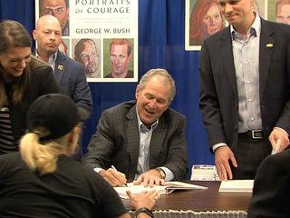 President George W. Bush at Vero Beach bookstore