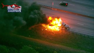 Exclusive: Driver loses everything in truck fire