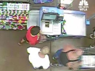 Walmart cash grab caught on camera