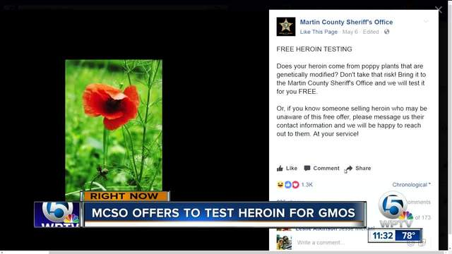 Martin County Sheriff's Office offering 'free heroin ...