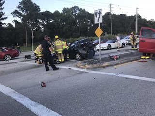 Crash with injuries delays traffic in Stuart