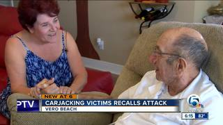 Man carjacked in shopping center speaks out