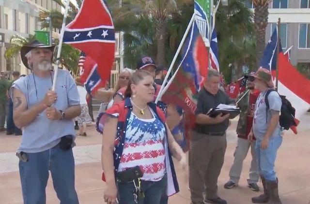 Protesters Clash Over Lake Eola Confederate Statue