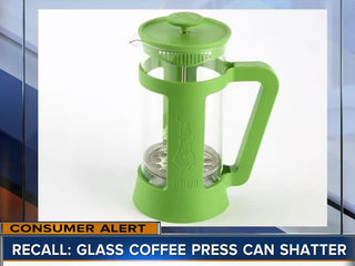 Coffee presses recalled due to laceration hazard