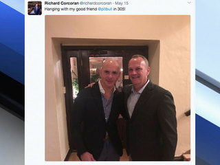Fla. Speaker criticized for posing with Pitbull