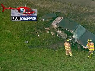 3-vehicle crash on I-95 SB in PB Gardens