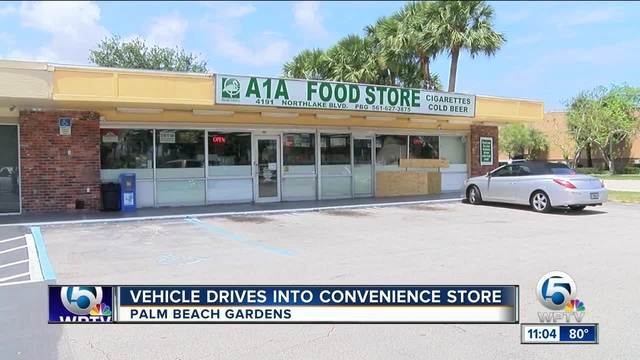 Car Drives Into Convenience Store In Palm Beach Gardens