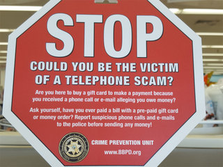 Police try to discourage gift card/phone scams