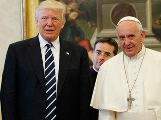Pres. Trump, Pope Francis meet at Vatican City