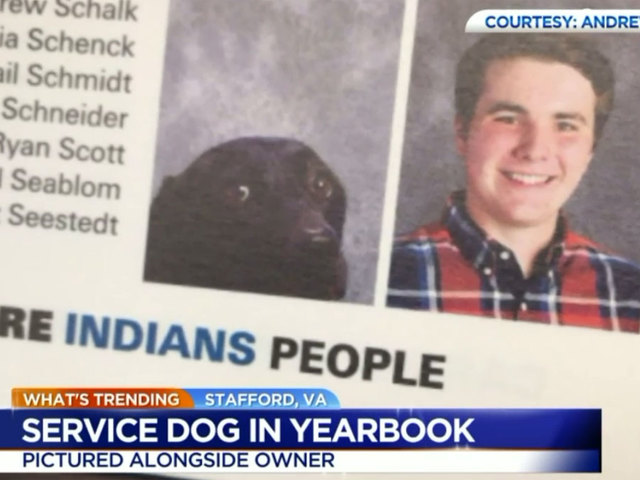 Student's service dog gets own headshot in class yearbook