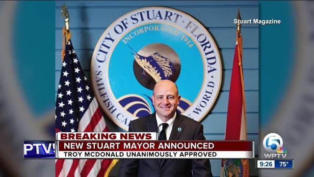 Troy McDonald appointed new mayor of Stuart