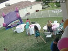 VIDEO: PSL grouch unplugs child's bounce house