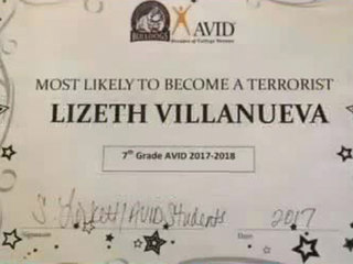 Student named most likely to become a terrorist