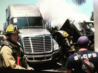 Semi truck fire extinguished in Fort Pierce