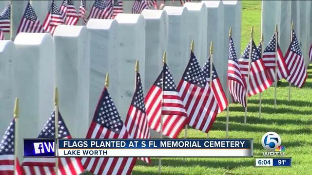 Volunteers Plant Flags at Salisbury National Cemetery to Honor Veterans