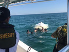 4 rescued after boat overturns in St. Lucie Co.