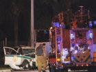 2 police officers injured in wrong-way crash