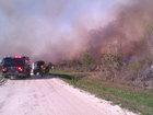 Crews battle brush fire in Okeechobee County