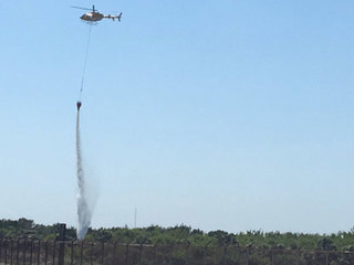 Rocket test sparks fire at Kennedy Space Center