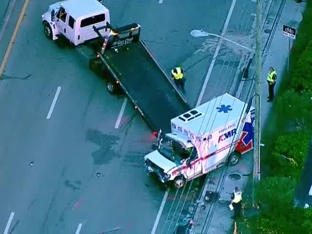 2 dead in rollover crash involving ambulance