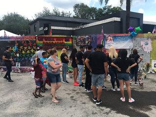 Crowds gather at Pulse nightclub in Orlando