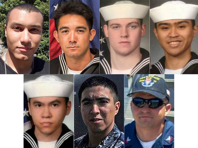 Bodies of missing U.S. sailors found