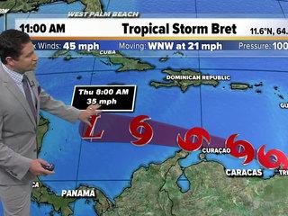 Bret degenerates into tropical wave