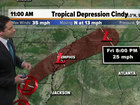 Tropical Storm Cindy downgraded to a depression