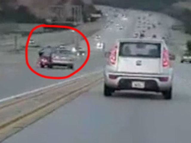 Motorcyclist's road rage kick touches off 2-car crash